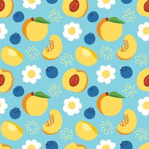 Peaches + Blueberries