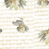 Hummingbird  Beige Pattern