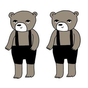 Bear - 8x8 swatch teddy bear - bear in pants - cute bear