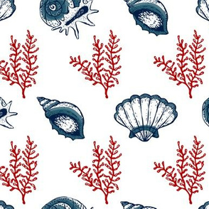 Seashells V.01-Red Blue
