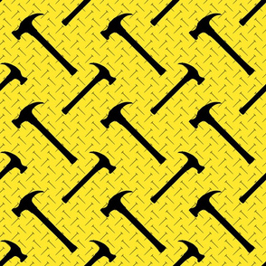 Hammer and Nails on Yellow
