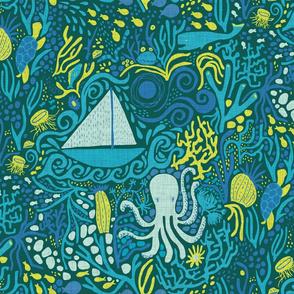 Deep Sea Sailing - Deep Teal