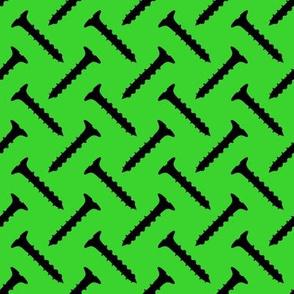 Slot Head Screws on Green