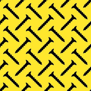 Slot Head Screws on Yellow
