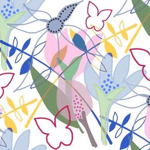 Tangled Garden - white