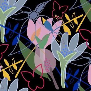 Tangled Garden - black
