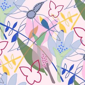 Tangled Garden - pink