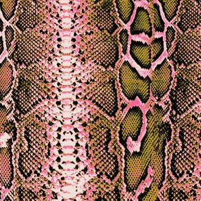 snakeskin mustard and pink