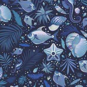 Underwater Magic in Blue
