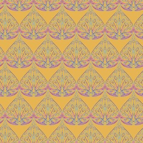 Paradise Teardrop Yellow & Coral