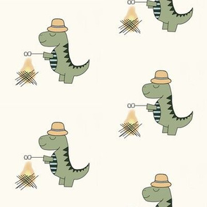 Teddy the Camping T-Rex