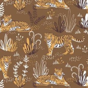 modern tropical tiger pattern
