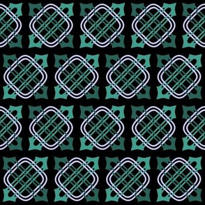 Merlins Knot-BlackTeals Periwinkle