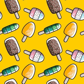 Fun Summer Ice Lollies / Popsicles in Yellow, Stripes and Bright Colours