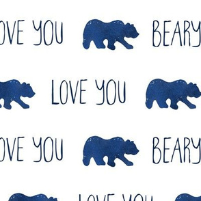 Love You Beary Much - Navy