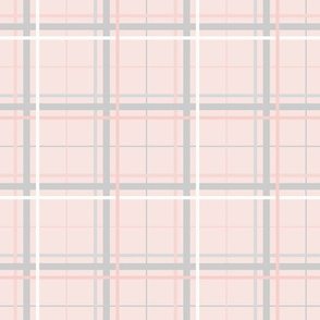 Summer Plaid: Rose Gold & Gray Plaid
