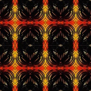 Black oval linear design repeating pattern