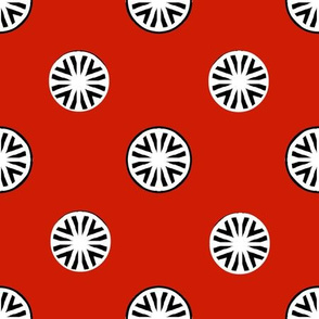 Dynamic Dots on Red