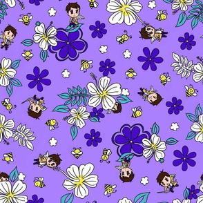 Chibi Castiel Hawaiian Purple