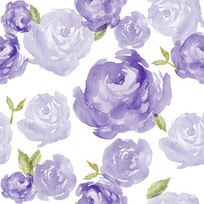 Lavender watercolor rose