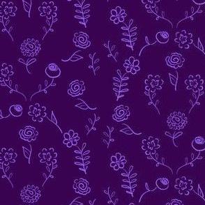 Floral Navettes - Violet