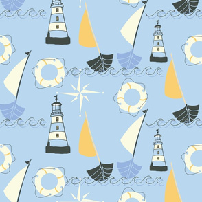 nautical objects blue-01