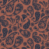 Burnt Orange Bohemian Paisley