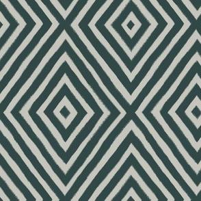 diamond painted-green