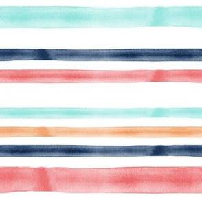 spring watercolor stripes - LAD19