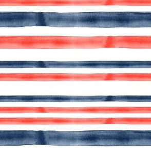 red and blue watercolor stripes - LAD19