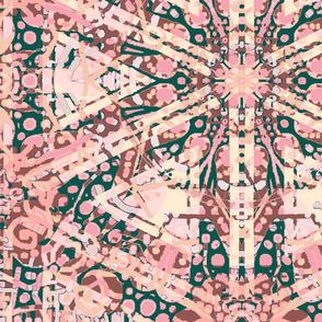 Femininity: Dotted Flower Starburst Plaid