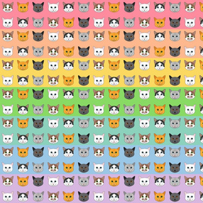 All the Cats in the Rainbow- Small Scale