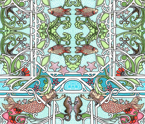 Under Sea Fantasy fabric by edsel2084 on Spoonflower - custom fabric