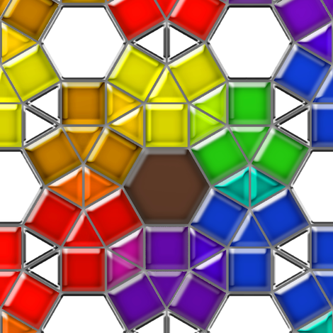 Stained Glass Rainbow Flowers fabric by eclectic_house on Spoonflower - custom fabric