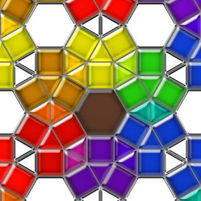 Stained Glass Rainbow Flowers