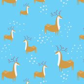 deers in christmas