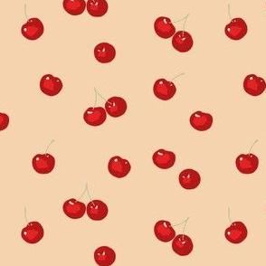 Cherries on beige