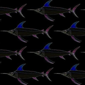 Swordfish in lines and edges