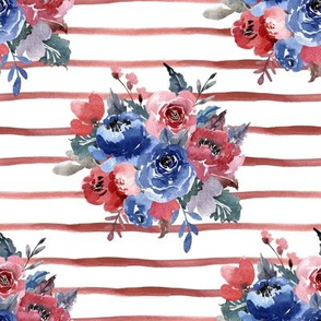 Freedom Florals // Red Stripes