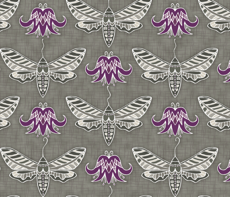 Sphinx Moth fabric by beckarahn on Spoonflower - custom fabric