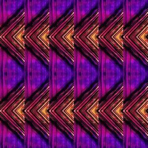 Yellow and purple triangles chevron pattern