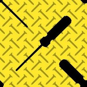 Phillips Head Screwdriver on Yellow