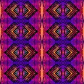 Purple diamond, yellow chevrons