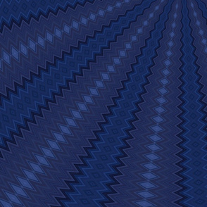 Blue Radial Waves