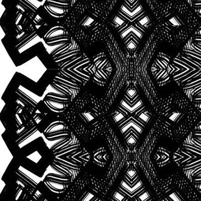 Black and white angle shapes repeat patterning