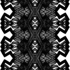 Black and white angle pattern design