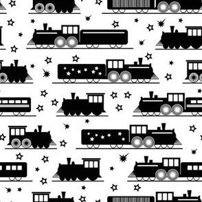 b&w trains