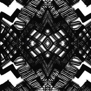 Black and white block design