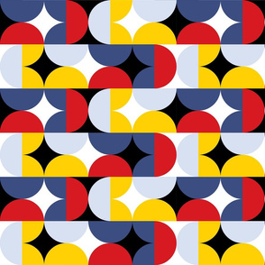 Big bold modern geometric bauhaus