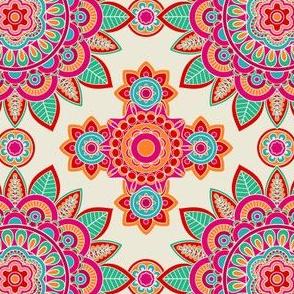 Aqua Magenta Mandala Pattern
